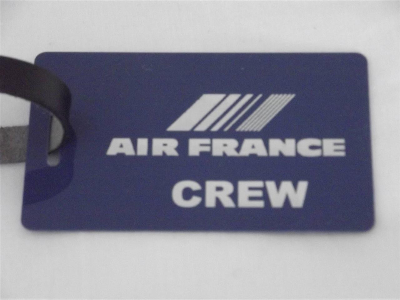 Novelty Luggage Crew Tags - Blue, Air France  ( CREW & 1ST CLASS) -  Inflightgoods   - 2