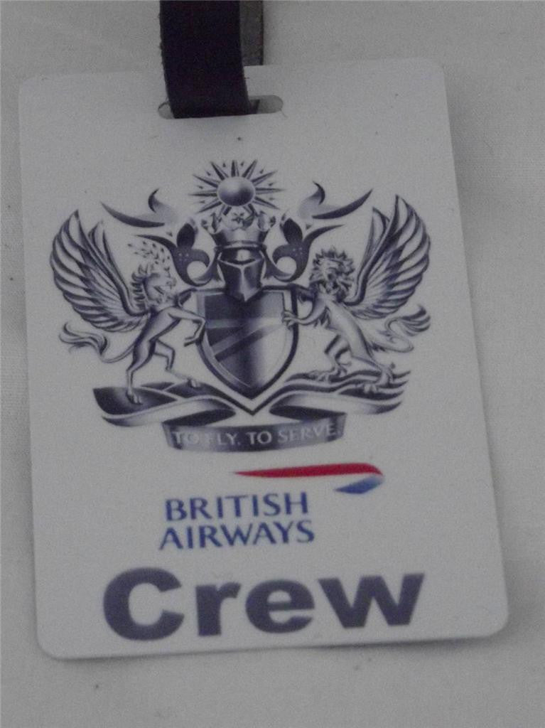 Novelty Luggage Crew BA A crew tags   white -  Inflightgoods   - 1