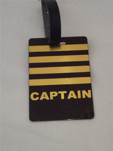 Novelty CREW LUGGAGE LABELS  ... CAPTAIN GOLD -  Inflightgoods