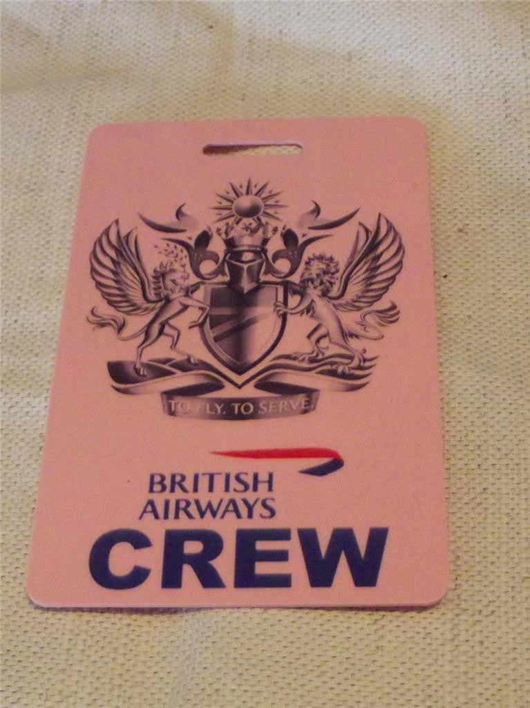 Novelty CREW LUGGAGE Tagg Fly to seerve  ...  ba   pink ,blue , -  Inflightgoods   - 1