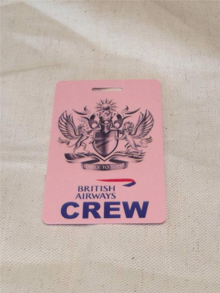 Novelty CREW LUGGAGE Tagg Fly to seerve  ...  ba   pink ,blue , -  Inflightgoods   - 3