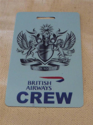 Novelty CREW LUGGAGE Tagg Fly to seerve  ...  ba   pink ,blue , -  Inflightgoods   - 2