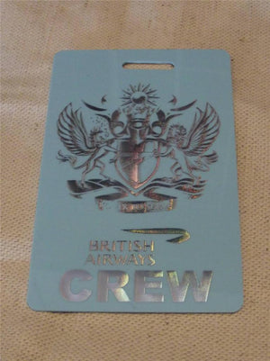 Novelty CREW LUGGAGE Tagg Fly to seerve  ...  ba   pink ,blue , -  Inflightgoods   - 4