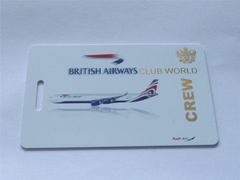 Novelty CREW LUGGAGE Tagg  BA  club world -  Inflightgoods   - 1
