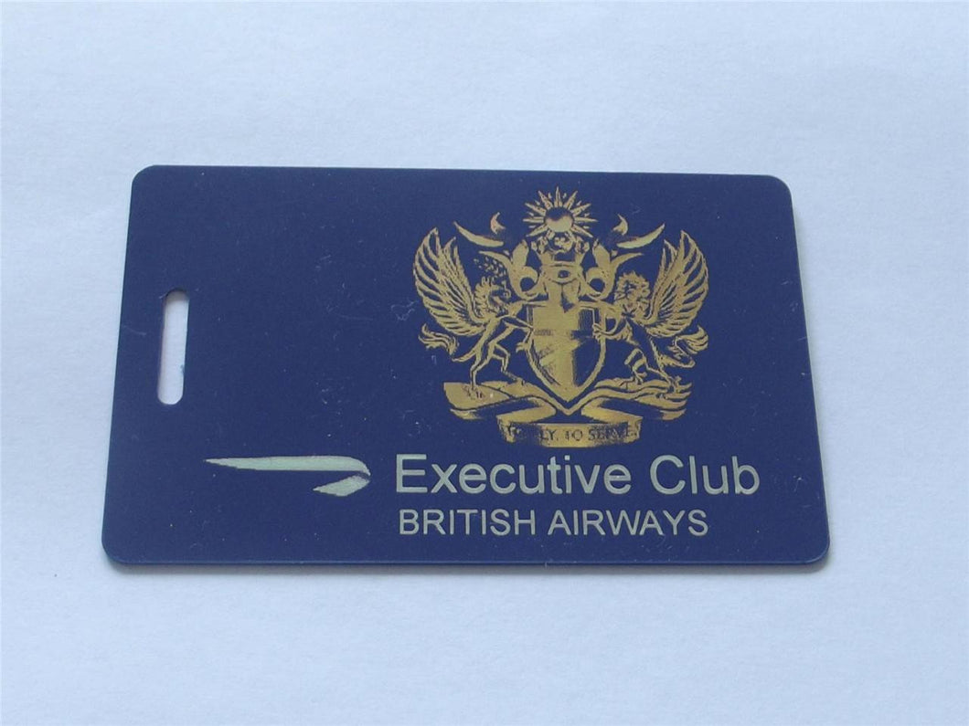 Novelty CREW LUGGAGE Tagg  Blue BA EXECUTIVE CLUB -  Inflightgoods   - 1
