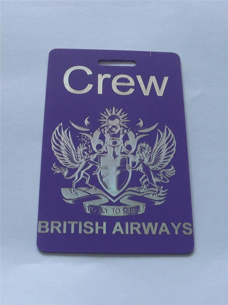Novelty CREW LUGGAGE Tagg  BA  Crew purple -  Inflightgoods   - 1