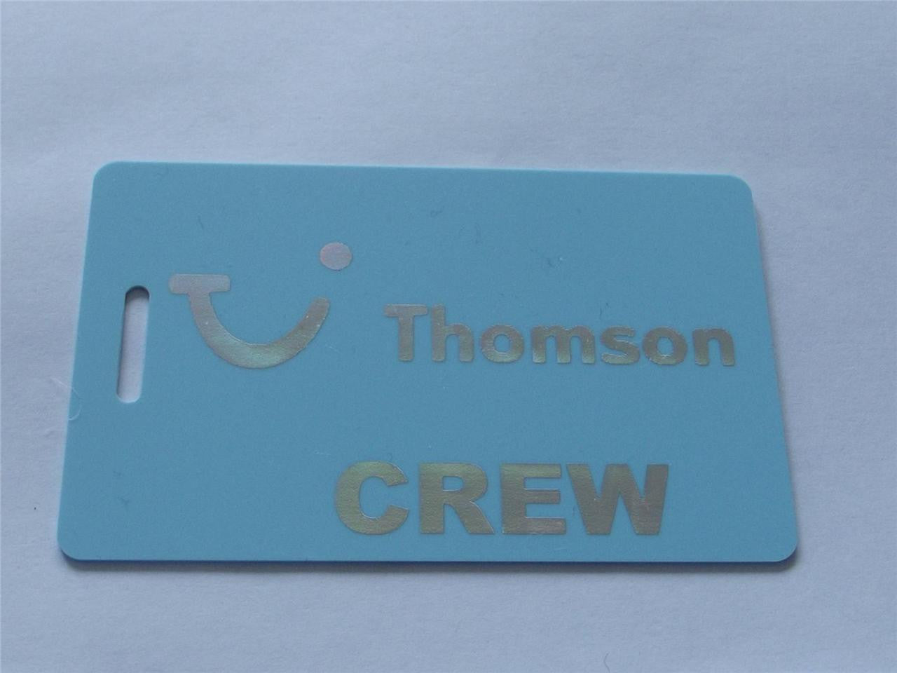 Novelty CREW LUGGAGE Tagg  Thomson Crew -  Inflightgoods   - 1
