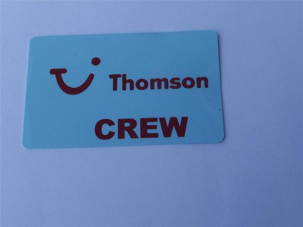 Novelty CREW LUGGAGE Tagg   THOMSON BLUE CREW -  Inflightgoods   - 1