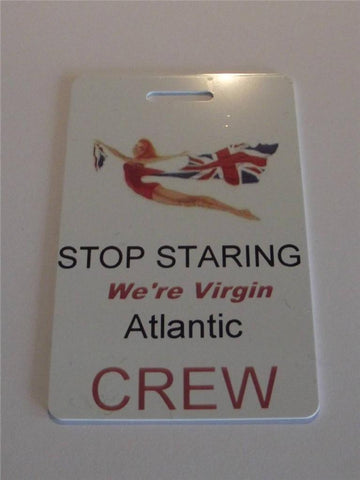 Novelty CREW LUGGAGE Tagg  Virgin Atlantic crew -  Inflightgoods   - 1