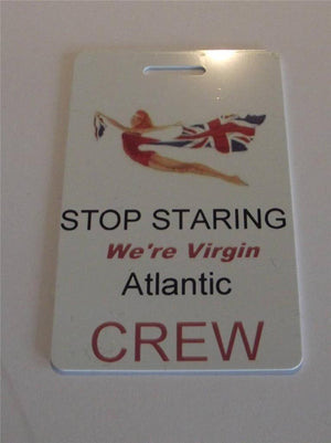 Novelty CREW LUGGAGE Tagg  Virgin Atlantic crew -  Inflightgoods   - 2
