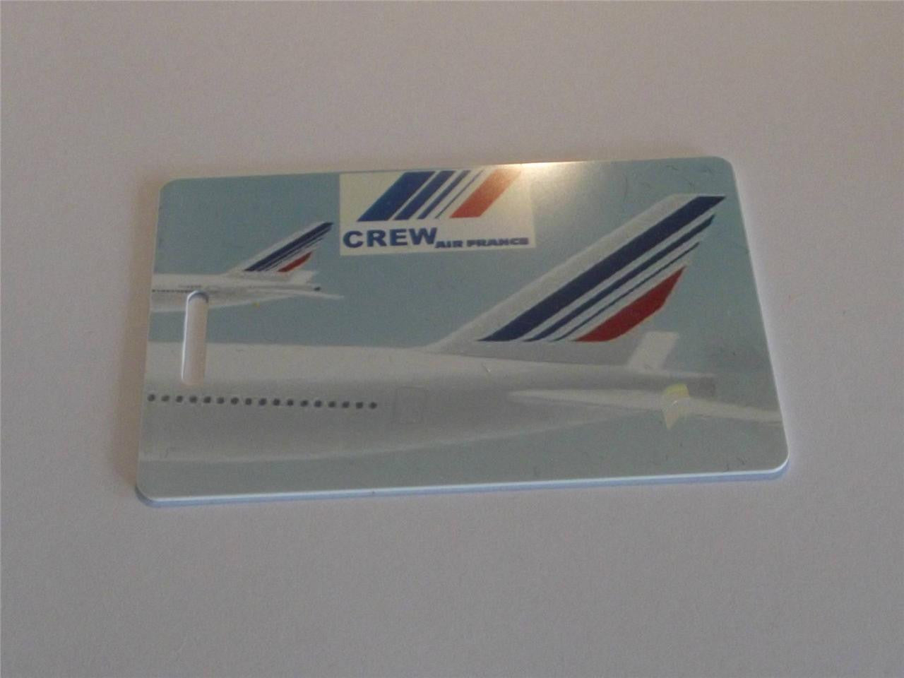 Novelty CREW LUGGAGE Tagg  AIR FRANCE  TAIL LOGO ( crew) -  Inflightgoods   - 2