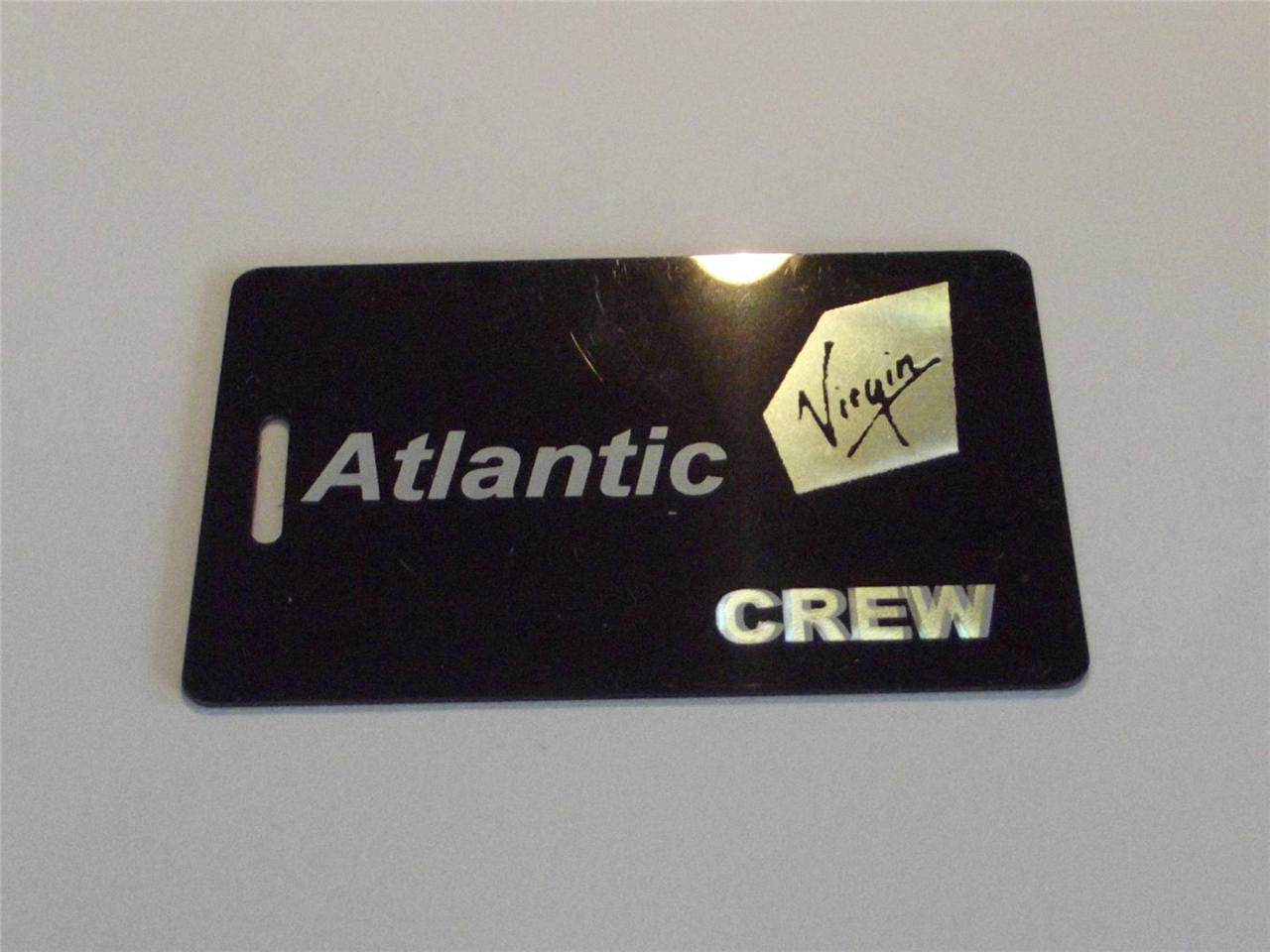 Novelty CREW LUGGAGE Tagg  VIRGIN AIR ATLANTIC Black  LOGO ( crew) -  Inflightgoods   - 1