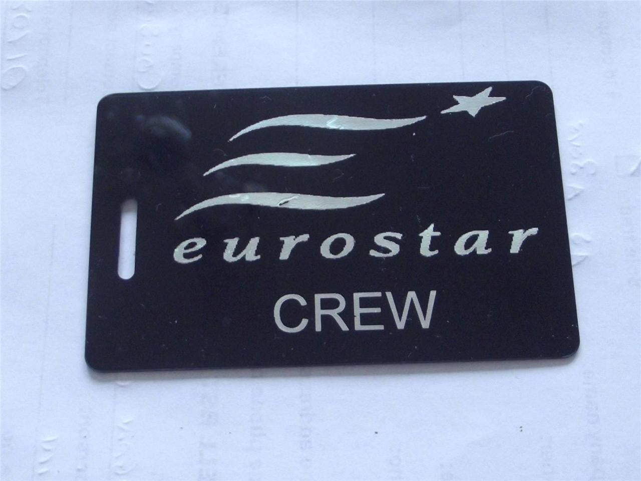 Novelty CREW LUGGAGE Tagg  EURO STAR CREW -  Inflightgoods   - 1