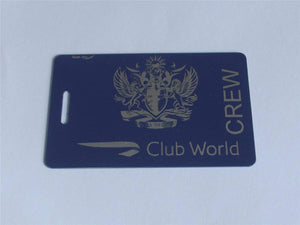 Novelty CREW LUGGAGE Tagg  BRITISH AIRWAYS CLUB WORLD BLUE SILVER  CREW -  Inflightgoods   - 2