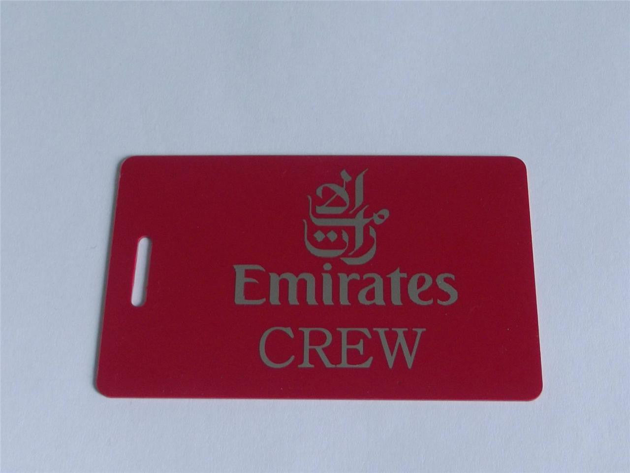Novelty CREW LUGGAGE Tagg  EMIRATES CREW  SILVER /RED LOGOS -  Inflightgoods   - 2