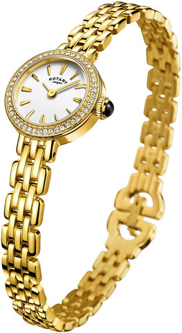 Rotary ' Cocktail' Quartz Stainless Steel Casual Watch, Color:Gold-Toned (Model: LB05053/02)