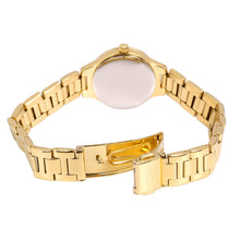 Rotary Women's Quartz Watch with White Dial Analogue Display and Gold Plated Stainless Steel Bracelet LB00345/41