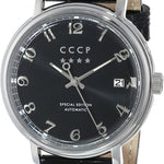 CCCP Men's CP-7021-01 Heritage Analog Display Automatic Self Wind Black Watch