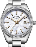 Rotary Womens Analogue Classic Quartz Watch with Stainless Steel Strap LB05079/41