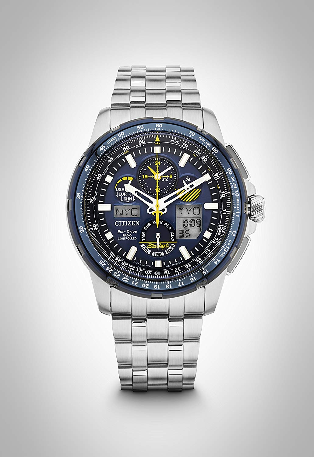 Citizen Men's Analogue Solar Powered Watch with Stainless Steel Strap JY8058-50L