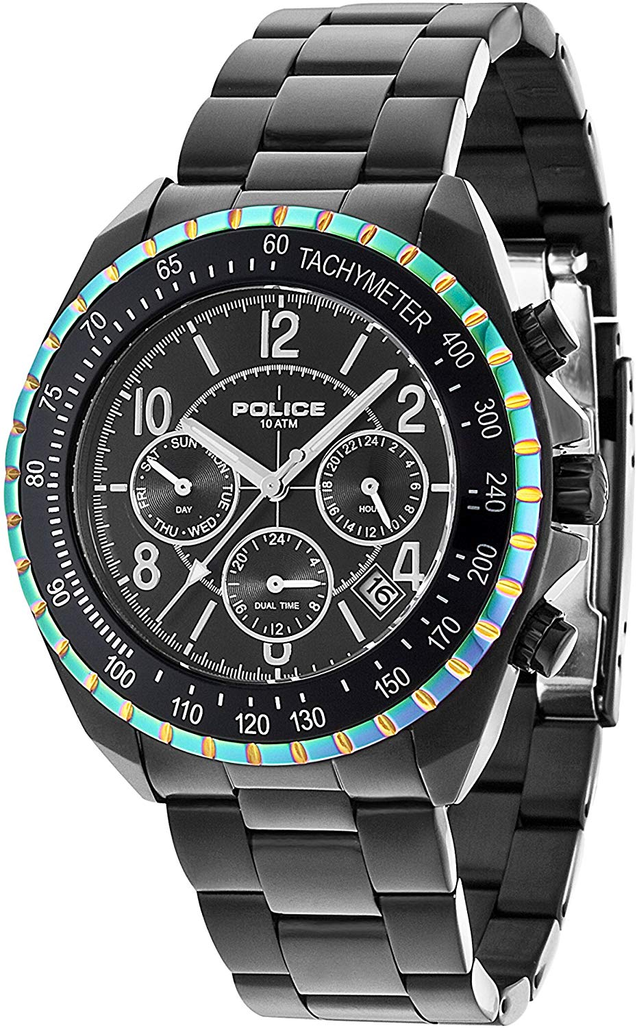 Police Men's Multi dial Quartz Watch with Stainless Steel Strap 14343JSBRW/02M