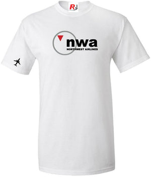 NWA Northwest Airlines Vintage US Airline Logo T-Shirt -  Inflightgoods   - 2