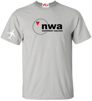 NWA Northwest Airlines Vintage US Airline Logo T-Shirt -  Inflightgoods   - 4