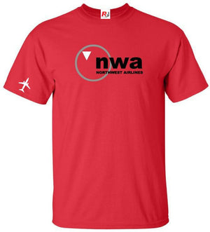 NWA Northwest Airlines Vintage US Airline Logo T-Shirt -  Inflightgoods   - 5