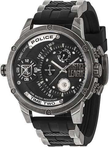 Police Mens Multi dial Quartz Watch with Silicone Strap 14536JQ02P