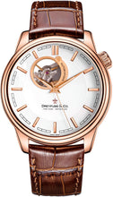 Dreyfuss & Co Mens Skeleton Automatic Watch with Leather Strap DGS00163/02