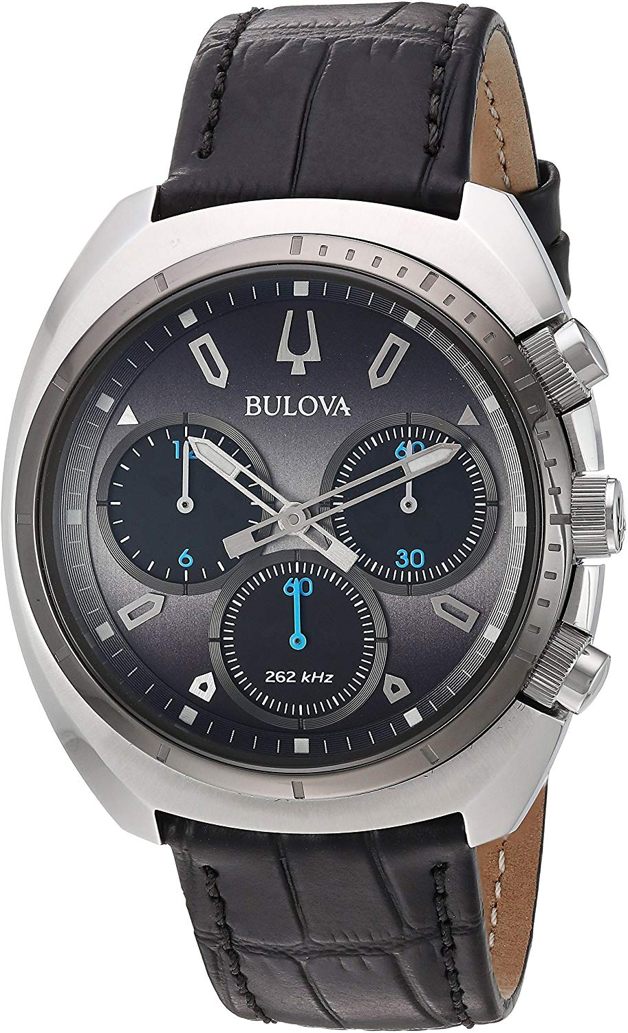 Bulova Mens Chronograph Quartz Watch with Leather Strap 98A155