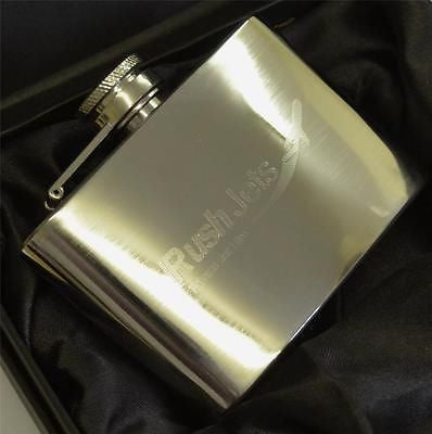 Rush Jets Branded, 6oz Hip Flask -  Inflightgoods