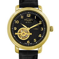 Rotary Jura Swiss semi-skeleton gold plated watch Product Code: GS90504/19 -  Inflightgoods   - 1