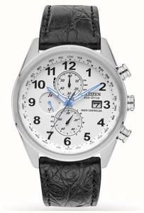 Men's Citizen Limited Edition Radio Controlled Chrono Leather Watch