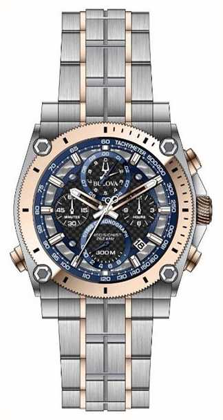Bulova 96B175 Precisionist Watch Chronograph Stainless Steel Wristwatch