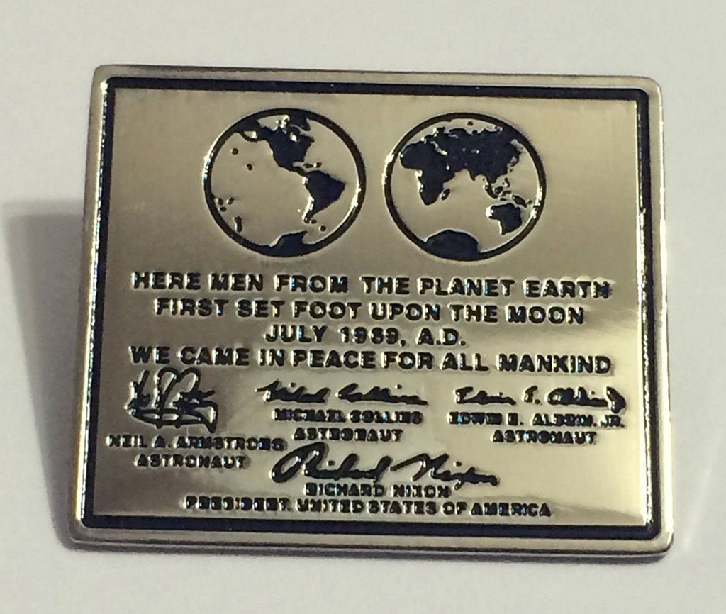 Apollo 11 Moon Plaque Lapel Pin Official Nasa Edition Buzz Armstrong Armstrong