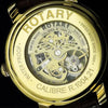 Rotary Jura Swiss semi-skeleton gold plated watch Product Code: GS90504/19 -  Inflightgoods   - 3