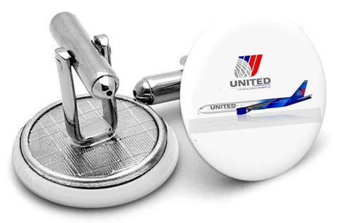 United Airlines Mens Cufflinks type 2 -  Inflightgoods