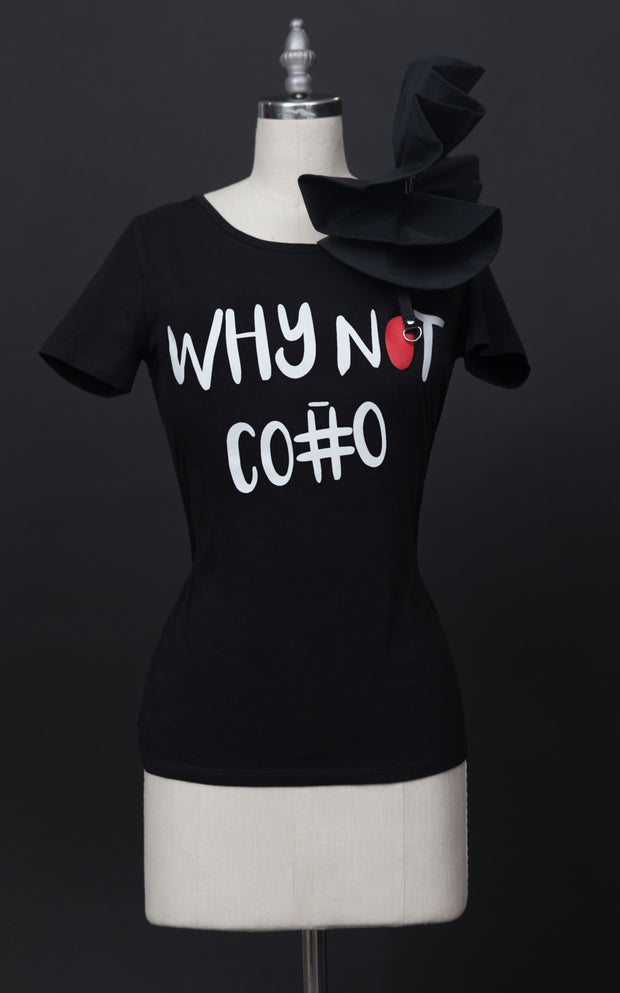 Why Not Co#o T-Shirt With Ruffle