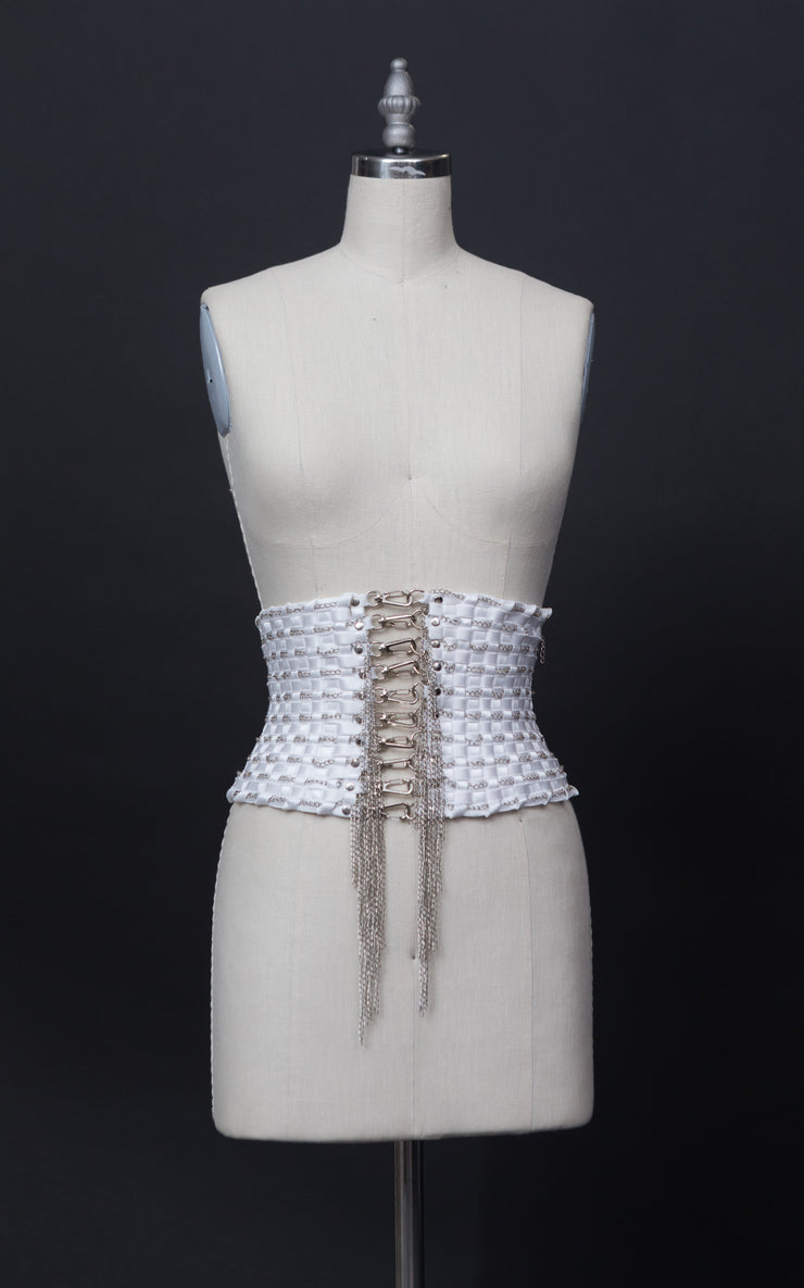 Black Handmade Stretch Waist Belt