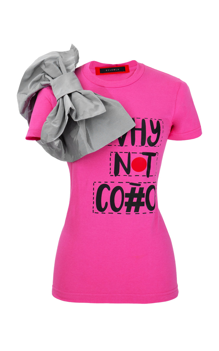 WNC-T-Shirt-Pink-Side with Bow Tie
