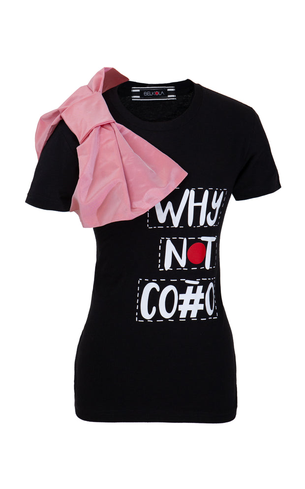 WNC-T-Shirt-Black-Side with Bow Tie