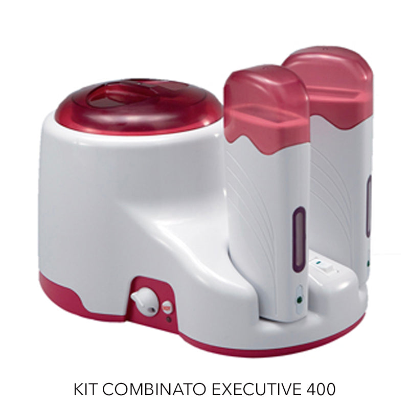 SCALDACERA KIT COMBINATO EXECUTIVE BARATTOLI DA 400 ML SCALDARULLO PER ESTETISTA CENTRO ESTETICO CERETTA CERA