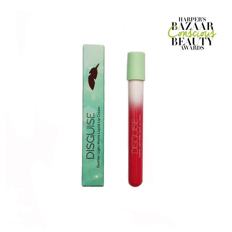 Disguise Cosmetics - Liquid Lip Cream - Excited Coral - Clean Beauty Booth