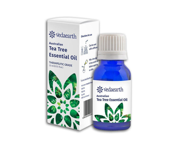 Vedaearth - Essential oil/face oil - Australian Tea tree essential oil - For Oily, pigmented and acne-prone skin - Clean Beauty Booth