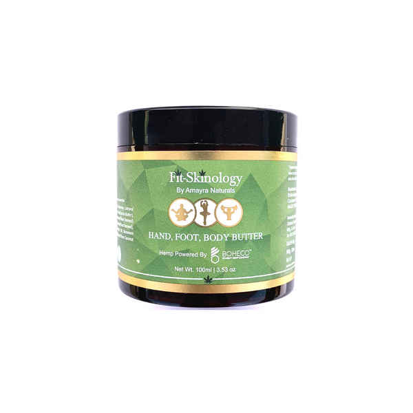 Amayra Naturals - Body Butter - Fit Skinology Hemp seed Oil + Rosemary + Mint