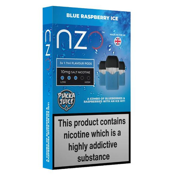NZO 10mg Pukka Juice Salt Cartridges with Red Liquids Nic Salt