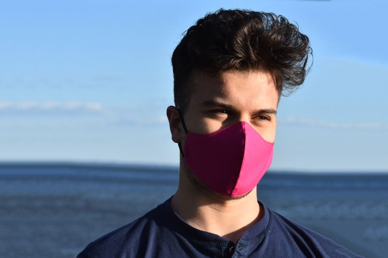 Face Mask Curved Cotton Magenta