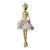 Ballerine with Amethyst and Crystal Flowers