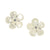 Mother of Pearl Kalachuchi Earring, Medium, with Diamond (available in yellow, white, and rose gold)